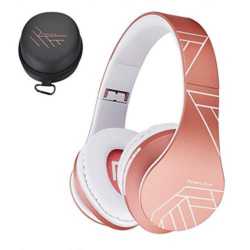 PowerLocus Bluetooth Over-Ear Kopfhörer, Kabellos Stereo Faltbare Kopfhörer Kabellose und...