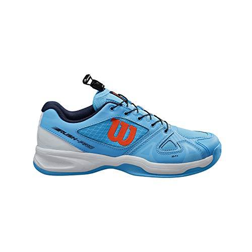 WILSON Rush PRO JR QL Jugend/Kinder Tennisschuhe, blau/weiß/orange, 39 EU