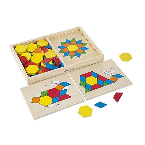 Melissa&Doug 10474 Musterblöcke und -bretter, klassisches Spielzeug, aus Holz
