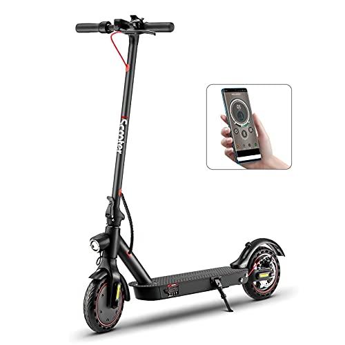 i9pro E-Scooter für Erwachsenen Last 120kg, Schnell 30km/h, 25km Reichweite/Ladung, Doppelfederung, APP...