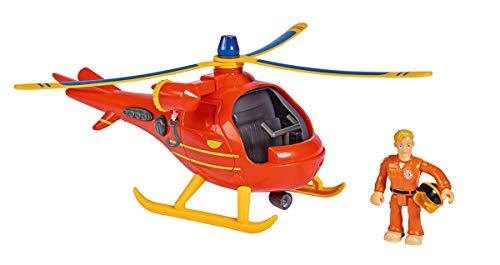 Simba 109251077 Fireman Feuerwehrmann Sam Hubschrauber Wallaby mit Figur