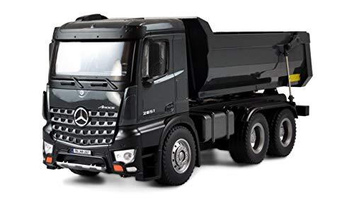 Amewi 22504 Mercedes LKW Kipper PRO Metall V2 Lizenzfahrzeug ferngesteuert RTR 2,4GHz Zusatz-Akku grau