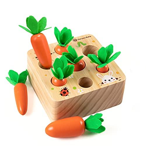 Holzspielzeug ab 1 Jahr | Baby Motorik Spielzeug für 12 Monate Jungen und Mädchen | Montessori...