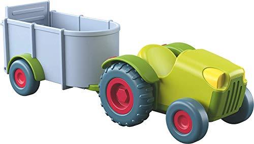 Haba 303131 Little Friends - Traktor mit Anhänger