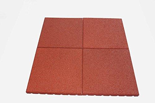 Allstores24 Fallschutzmatten Set 1m² Tina (Stärke 30mm) Granulatmatte, Fallschutzmatte, Bodenmatte,...