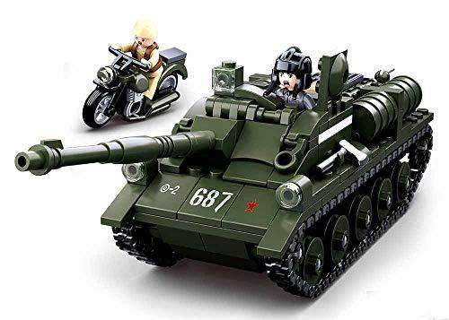 Sluban SL95558, WWII - Alliierter Jagdpanzer(335 Teile)[M38-B0687], Spielset , Klemmbausteine, Soldaten,...
