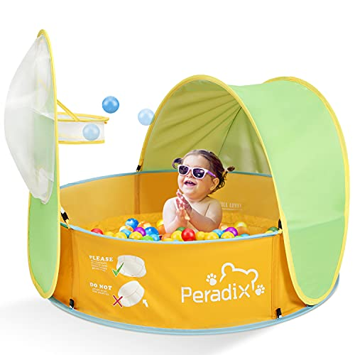 Peradix Baby Zelt Pop Up Bällepool ,Tragbare Kinder Spielzelt Bällebad Sonnenschutz Zelt Indoor Outdoor...