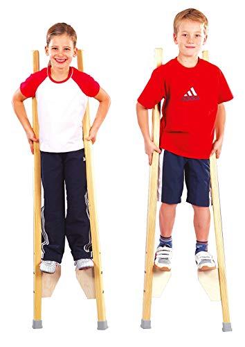 Sport-Thieme Kinderstelzen | Stelzen für Kinder bis 150 cm | Sicher, Stabil, Höhenverstellbar |...