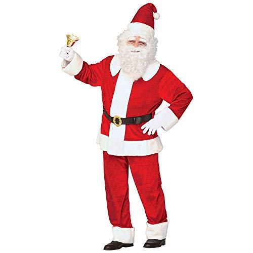 Widmann 11003813 Erwachsenenkostüm Luxus Weihnachtsmann aus Samt, mens, XL