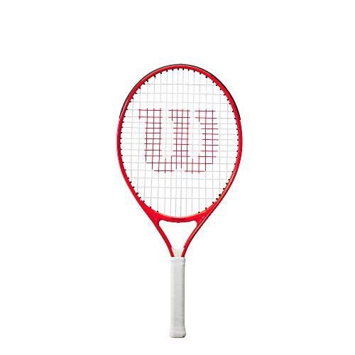 Wilson Tennisschläger Roger Federer 26, Für Kinder im Alter von 11 - 12 Jahren, AirLite-Legierung, Rot,...