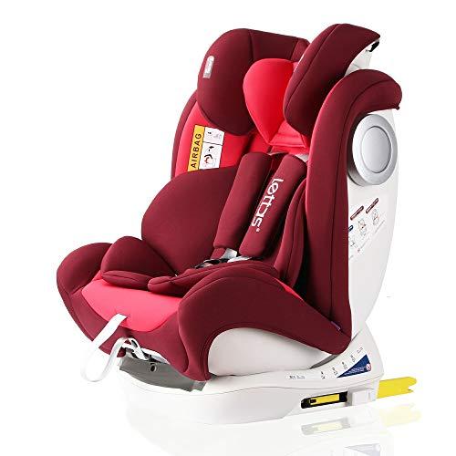 LETTAS Baby Kindersitz Autokindersitz Gruppe 0+1/2/3 (0-36 kg/0-12 Year) mit Protektoren seitliche Isofix...