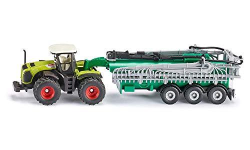 siku 1827, Claas Xerion Traktor mit Fasswagen, 1:87, Metall/Kunststoff, Grün, Ausschenkbarer...