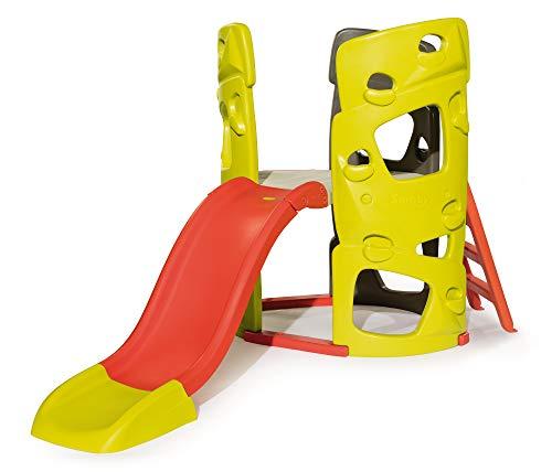 Smoby 7600840204 Abenteuer-Kletterturm mit Rutsche Spielturm für Kinder, mit Kletterwänden und...