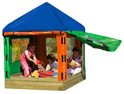 Gartenpirat Sandkasten Toni aus Holz mit Pavillon