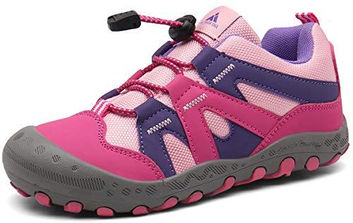 Trekkingschuhe für Kinder Wanderschuhe Jungen Mädchen Mit Schnellverschluss Atmungsaktive Schuhe...