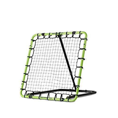 EXIT Fußball Rebounder Tempo - 120x120cm - Grün/Schwarz - Fußball Trainingszubehör - Verstellbar in 7...