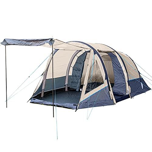 Skandika Aufblasbares Zelt Folldal 4 Air-Rise für 4 Personen | Zelt mit eingenähtem Zeltboden,...