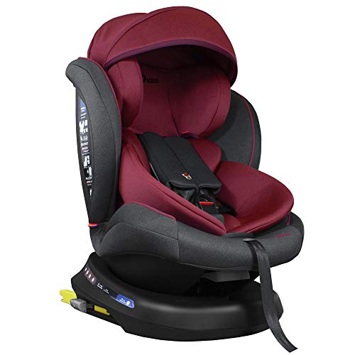 XOMAX S64 Kindersitz drehbar 360° mit ISOFIX und Liegefunktion I mitwachsend I 0-36 kg, 0-12 Jahre,...