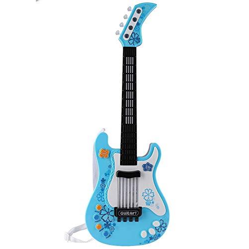 Gitarre Kinder mit Sound, Kinder Bass Gitarre Geschenk E-Gitarre Spielzeug mit Sound und Lichter...