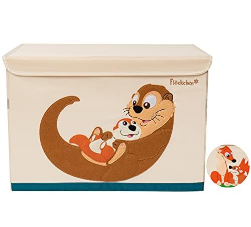 Flöckchen Kinder Aufbewahrungsbox, Spielzeugbox für Kinderzimmer I Spielzeug Kiste (62x38x37) I Kinder...