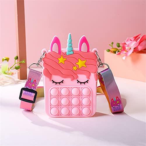 JUSHINI Damen Geldbörse Pop Fidget Toys Tasche Push Bubble Sensory Squeeze Umhängetasche Anti-Angst...