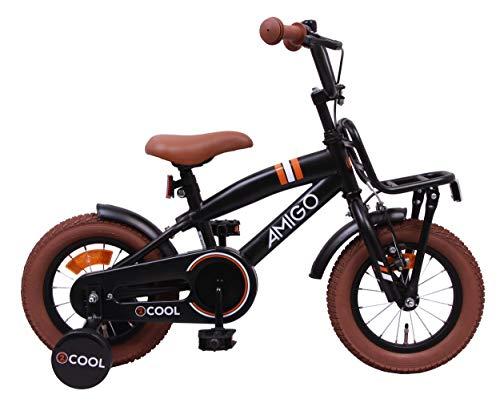 Amigo 2Cool - Kinderfahrrad für Jungen - 12 Zoll - mit Handbremse, Rücktritt, Gepäckträger Vorne und...
