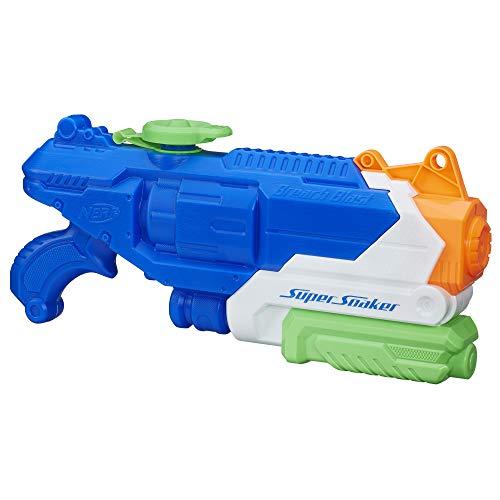 Hasbro B4438 Nerf Super Soaker Breach Blast, Wasserpistole mit dem 1,4 Liter Wassertank und Reichweite...