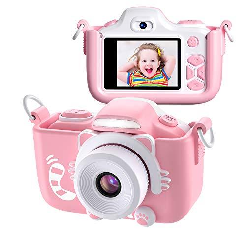Kriogor Kinder Kamera, Digital Fotokamera Selfie und Videokamera mit 12 Megapixel/ Dual Lens/ 2 Inch...