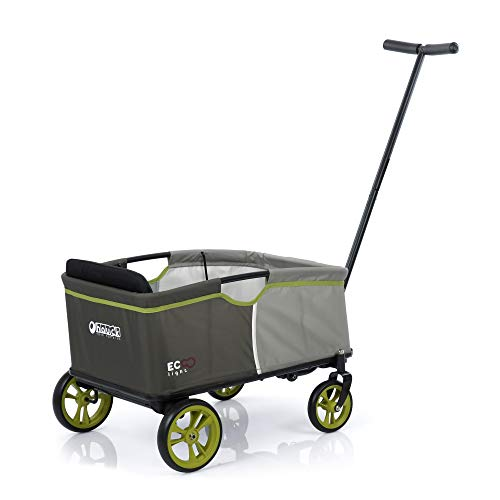 Hauck Toys for Kids Bollerwagen Eco Mobil Light - Faltbarer Handwagen mit Sitz, Klappbollerwagen für 1...
