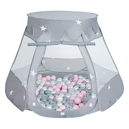 SELONIS Baby Spielzelt Mit Plastikbällen Zelt 105X90cm/100 Bälle Plastikkugel Kinder,...