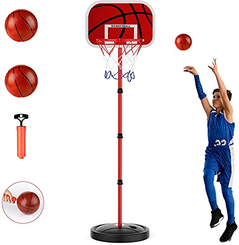 Basketballkörbe Kinder, zinuo 170CM Basketballständer Höhenverstellbar basketballkorb Tragbar Baby...