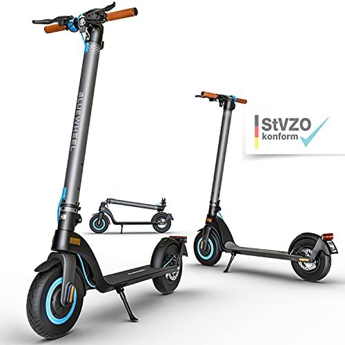 """BLUEWHEEL 10"""" Design E-Scooter mit Straßenzulassung I Deutsche Qualitätsmarke I mobiler Akku + 13.5..."""