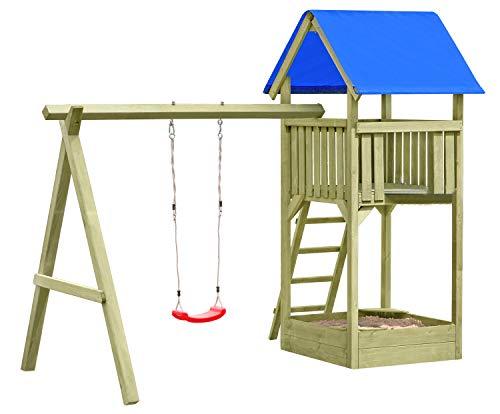 Gartenpirat Premium Spielturm S mit Schaukel und Sandkasten TÜV