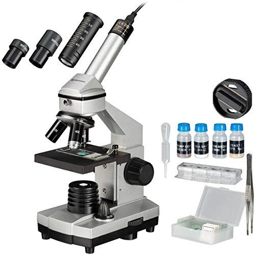 Bresser Junior Mikroskop Set Biolux DE 40x-1024x für Kinder und Erwachsene mit hoher Vergrößerung,...