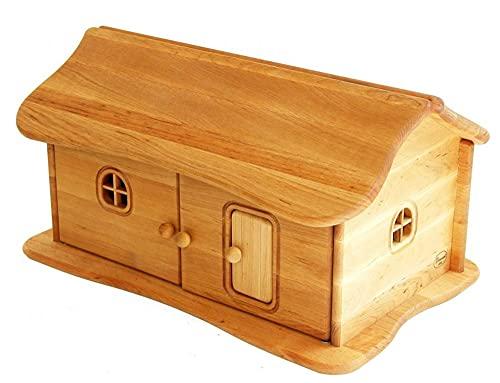 Unbekannt Drewart 4025 Bauernhof-Haus mit aufklappbarem Dach aus massivem Erlenholz L 50 cm, B 32 cm, H...