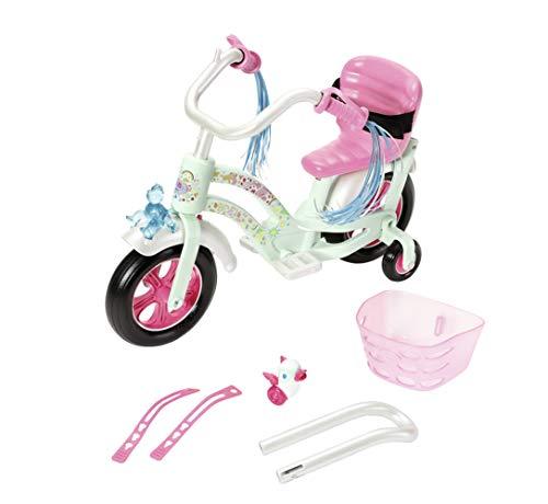 Zapf Creation 826652 BABY born Play & Fun Fahrrad Puppenzubehör mit Licht-Funktion und Hupe und weiteren...