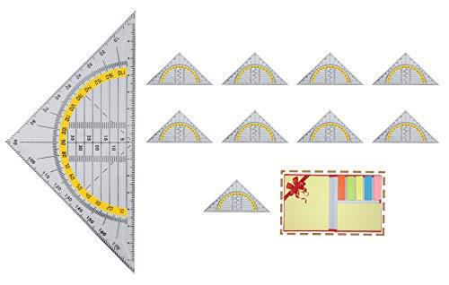 Projects Geodreieck Set flexibel 10 Stück 14cm lang Kunststoff transparent | Flexibles Geodreieck...
