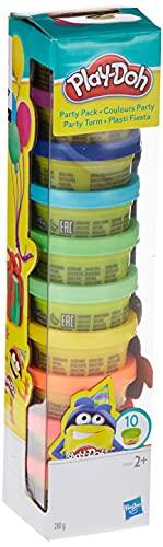 Der Play-Doh Party Turm mit 10 verschieden farbigen Dosen Play-Doh Knete à 28 g ist der lustig bunte...