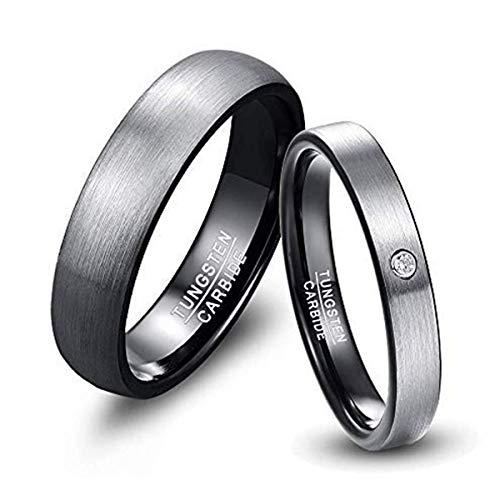 NUNCAD Partnerringe Freundschaftsringe Eheringe Trauringe Verlobung Ringe Band Größe 52(16.6)