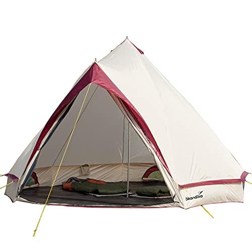 skandika Comanche Tipi Zelt Outdoor | Campingzelt für bis zu 8 Personen, eingenähter Zeltboden,...
