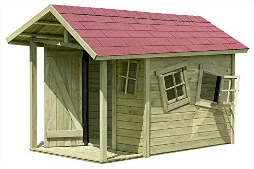 Gartenpirat Spielhaus Louis-Fun aus Holz mit Fußboden 1,5 x 1,2 m + Terrasse