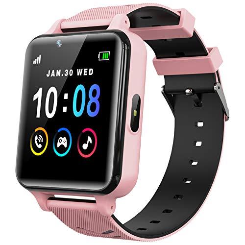 Smartwatch Kinder Telefon für Mädchen und Jungen mit Spielen Musik Player HD Touchscreen Kamera Anruf...