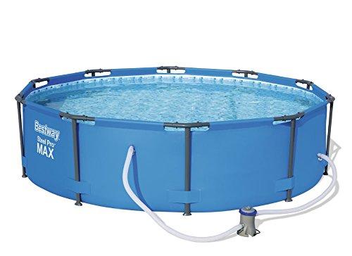 Bestway Steel Pro MAX, Frame Pool rund mit Stahlrahmen und Filterpumpe, 305 x 76 cm