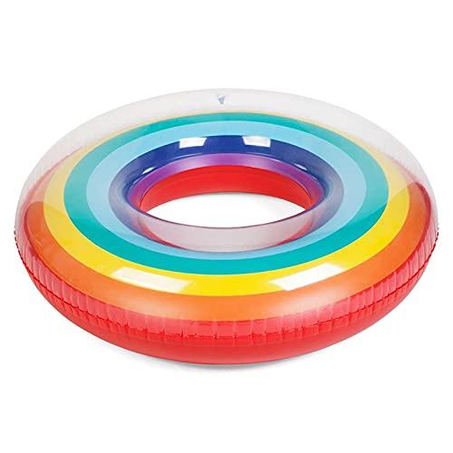 Gcxzb Schwimmreifen Schwimmring Aufblasbarer Pool Schwimmen Kreis Regenbogen Float Pool Schwimmen Ring...