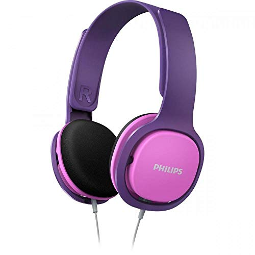 Philips Kinderkopfhörer SHK2000PK/00 Kinderkopfhörer On Ear (Lautstärkebegrenzung 85 db, Ergonomischer...