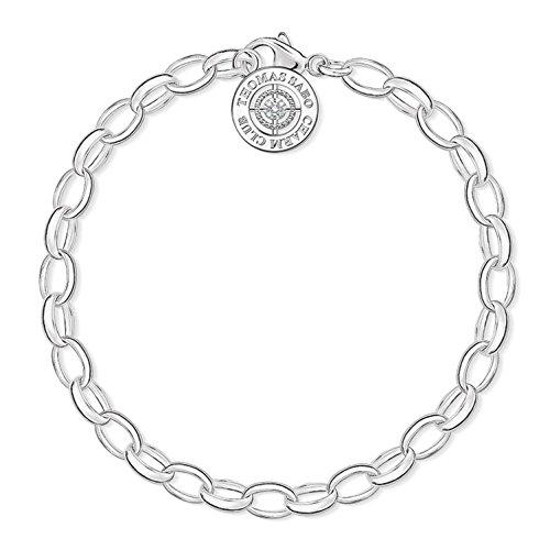 THOMAS SABO Damen Charm Armband Charm Club Diamant 925 Sterling Silber DCX0001-725-14