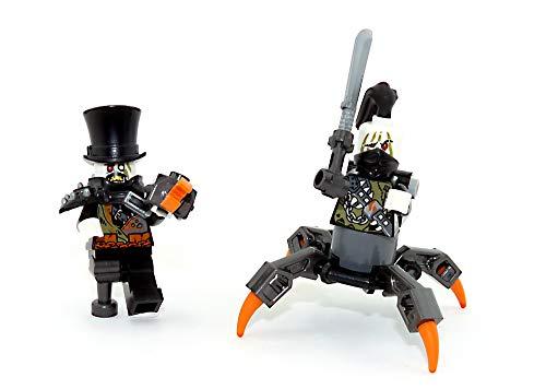 LEGO Ninjago 2 Figuren Eisen Baron und Sein Kumpel der beinlose Jäger mit Waffen