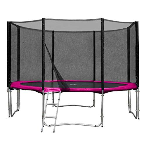 Baunsal GmbH & Co.KG Gartentrampolin Trampolin 366 bis 370 cm in pink mit Sicherheitsnetz und...