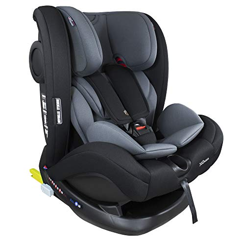 XOMAX S66 Kindersitz mit ISOFIX und Liegefunktion I mitwachsend I 0-36 kg, 0-12 Jahre, Gruppe 0/1/2/3 I...