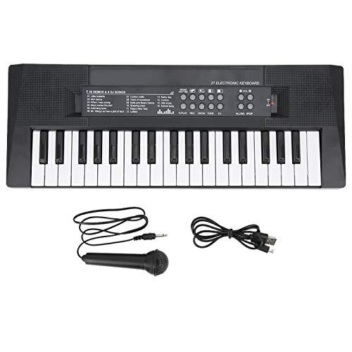 Elektrische Tastatur tragbare 37 Key Piano mit Mikrofon und Aufnahmefunktion Klavier Keyboard...